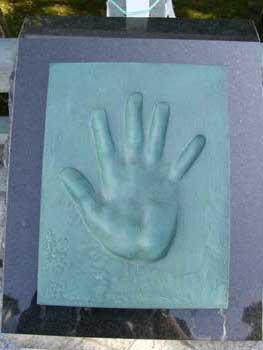 そしてこれが勇ちゃんの手形